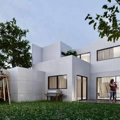 Casa en León Guanajuato, Gran jardín: Casas pequeñas de estilo  por Inversiones inmobiliarias. Bienes raíces y construcción en León.