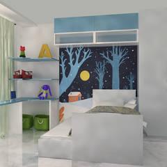 Kamar Anak:  oleh HGW Interior,