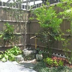 福岡市東区注文住宅 和風庭園 ㈱清武建設一級建築士事務所: Home Plan Kiyotake 一級建築士事務所 ㈱清武建設  が手掛けた枯山水です。