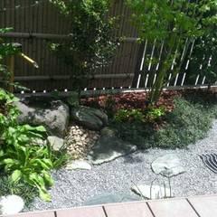 枯山水 福岡市東区  ㈱清武建設一級建築士事務所: Home Plan Kiyotake 一級建築士事務所 ㈱清武建設  が手掛けた枯山水です。