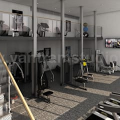 Best 3D Interior Design of Apartment with Gym Developed by Yantram Architectural Design Home Plans, Boston - USA:  Gym by Yantram Architectural Design Studio