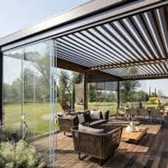 İzmir Tente Sistemleri – Pergola Sistemleri:  tarz Çatı teras