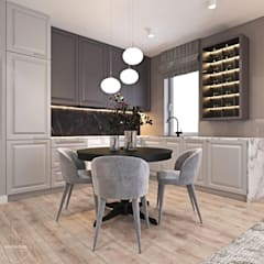 Mieszkanie z elementami klasyki: styl , w kategorii Kuchnia zaprojektowany przez Ambience. Interior Design