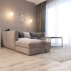 Mieszkanie z elementami klasyki: styl , w kategorii Salon zaprojektowany przez Ambience. Interior Design