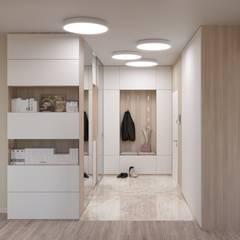 Pasillos y hall de entrada de estilo  por ИнтеРИВ