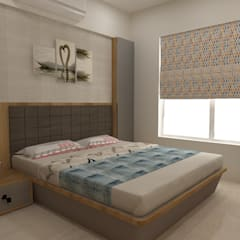 Mrs. Janvi Nagrani:  Bedroom by DesignTechSolutions
