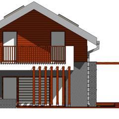 Dom w Konstantynowie Łódzkim - Dziektarzew, łódzkie: styl , w kategorii Balkon zaprojektowany przez Budownictwo i Architektura Marcin Sieradzki - BIAMS