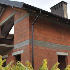 Dom w Konstantynowie Łódzkim - Dziektarzew, łódzkie: styl , w kategorii Ściany zaprojektowany przez Budownictwo i Architektura Marcin Sieradzki - BIAMS