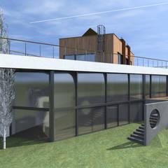Nowoczesny dom na warszawskim Wilanowie: styl , w kategorii Dom jednorodzinny zaprojektowany przez Budownictwo i Architektura Marcin Sieradzki - BIAMS
