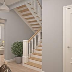 Коттедж в п. Морозово: Лестницы в . Автор – ReDi