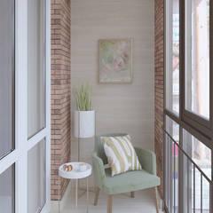 Квартира в ЖК «Бульварный переулок»: балконы в . Автор – ReDi