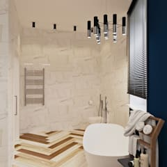 Квартира в ЖК «Тайм»: Ванные комнаты в . Автор – ReDi
