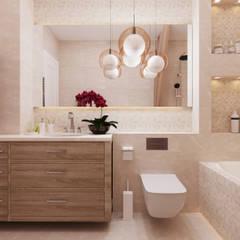 Квартира в ЖК «Бульварный переулок»: Ванные комнаты в . Автор – ReDi,