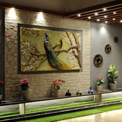3BHK luxurious apartment with spacious terrace:  Terrace by The D'zine Studio,