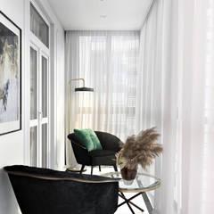 Интерьер с французским акцентом: балконы в . Автор – Наталья Преображенская | Студия 'Уютная Квартира'