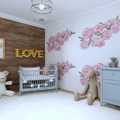 Pokoik dziecięcy/ niemowlęcy: styl , w kategorii Pokój dziecięcy zaprojektowany przez MALACHIT wnętrza