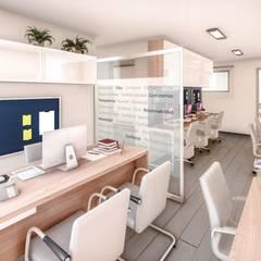 Diseño Interior Estudio Contable AC de AS Arquitectura e Interiores Moderno Derivados de madera Transparente