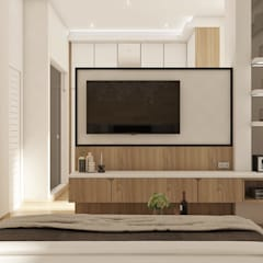 Alternatif Partisi TV :  Kamar Tidur by Lighthouse Architect Indonesia