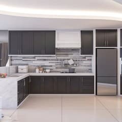Apartemen City View Mrs. M:  Dapur by Lighthouse Architect Indonesia