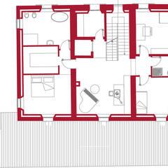 Pianta del primo piano.: Camera da letto in stile  di Studio tecnico Salvetti