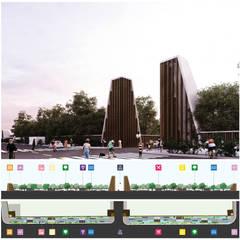 8º Concurso de Arquitectura. Escuela Digital Primer Lugar: Jardines en la fachada de estilo  por Victor Cruz