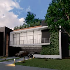 vivienda unifamiliar ene cancun: Casas multifamiliares de estilo  por ELOARQ