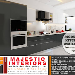 Small kitchens by MAJESTIC INTERIORS