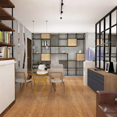 Interior Fit-Out for 1-BR Condo Unit, Serendra:  Walls by Structura Architects,