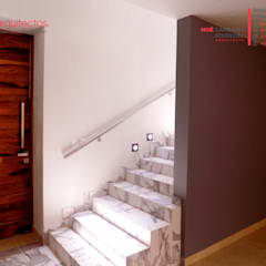 Conjunto Vivienda y Comercio, Covarrubias Huerta: Escaleras de estilo  por 810 Arquitectos