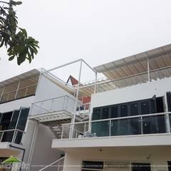 Mái che nhà hàng MP thai Seafood Restaurant – Nha Trang Nhà phong cách nhiệt đới bởi Công ty TNHH Havico Việt Nam Nhiệt đới