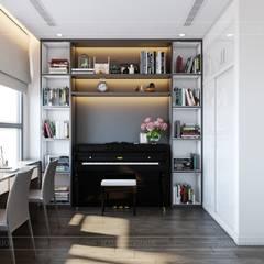 Thiết kế nội thất hiện đại tại căn hộ Landmark 4 Vinhomes Central Park:  Phòng giải trí by ICON INTERIOR