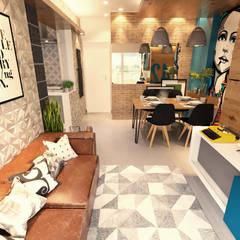 Living room by Gelker Ribeiro Arquitetura | Arquiteto Rio de Janeiro