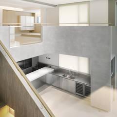 ShinTien Residence 新店住宅:  廚房 by  何侯設計   Ho + Hou Studio Architects ,