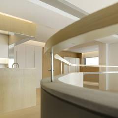 ShinTien Residence 新店住宅:  走廊 & 玄關 by  何侯設計   Ho + Hou Studio Architects ,