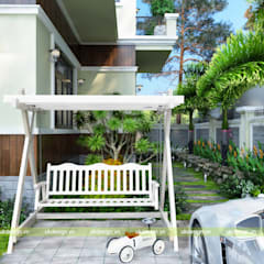 Front yard by UK DESIGN STUDIO - KIẾN TRÚC UK