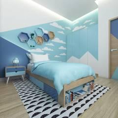 Desain interior Bedroom: Kamar Tidur oleh viku, Modern Kayu Wood effect