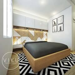 Desain interior Bedroom:  Kamar Tidur by viku