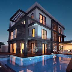 Mitta Mimarlık & İç Mimarlık – M.A Evi:  tarz Havuz