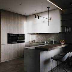 abode - Industrial :  Small kitchens by ACOR WORLD PVT LTD