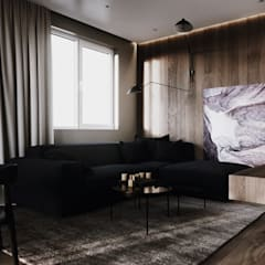abode - Industrial :  Living room by ACOR WORLD PVT LTD