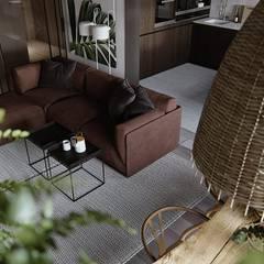 abode - Industrial 2:  Living room by ACOR WORLD PVT LTD
