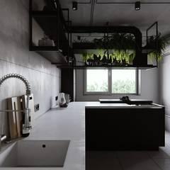 abode - Industrial 2:  Kitchen by ACOR WORLD PVT LTD