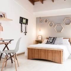 Cuarto Escandinavo: Habitaciones de estilo  por Pampeliska