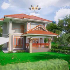 Rumah keluarga besar by แบบบ้านออกแบบบ้านเชียงใหม่