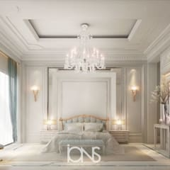 Elegant Neo Classic Master Bedroom Design:  Bedroom by IONS DESIGN
