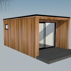 Prefabricated Garage by Modern garden rooms ltd