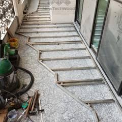 Balcón de estilo  por 新綠境實業有限公司