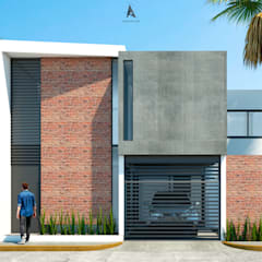 CASA ER-11: Casas pequeñas de estilo  por AP Arquitectura