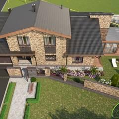 Частный дом с элементами английского стиля: Дома в . Автор – Компания архитекторов Латышевых 'Мечты сбываются', Классический