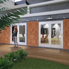 บ้านพักตากอากาศ:  บ้านสำหรับครอบครัว โดย แบบบ้านออกแบบบ้านเชียงใหม่,